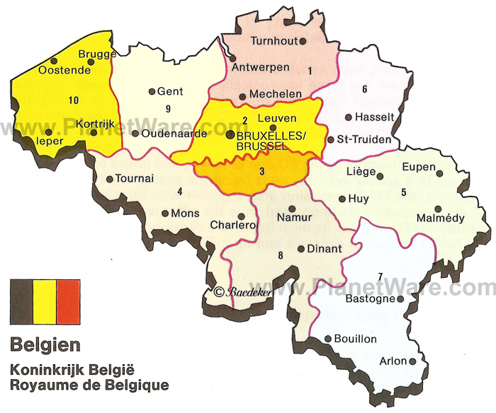 Map Of Belgium In – Map of Belgium and Surrounding Areas