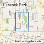 A map of Hancock Park LA