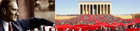 Bir millete, yitirmek üzere olduğu özgüveninin ve ulus bilincinin yeniden kazandırılması, bütün imkânsızlıklara rağmen verilen İstiklal Savaşı'nın zaferle sonuçlandırılması, yönetimde egemenliğin kayıtsız şartsız millete verilmesi ve her şeyden önemlisi; modern hukuk kurallarına dayanan çağdaş ve laik bir devletin tüm kurumlarıyla inşa edilmesi gibi başarıları, bizler Mustafa Kemal senden öğrendik!